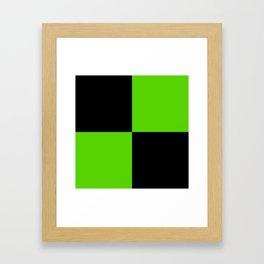 Big mosaic green black Framed Art Print