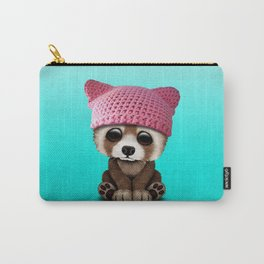 Cute Baby Red Panda Wearing Pussy Hat Carry-All Pouch