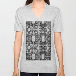 Azulejo in Black and White Unisex V-Neck