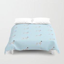 DALMATIANS ((baby blue)) Duvet Cover