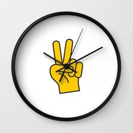 Hand Gesture - Peace Wall Clock