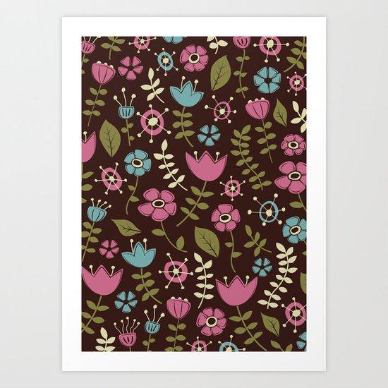 Whimsical Flowers III Art Print