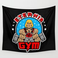 gym Wall Tapestries featuring Eternia Gym by Buby87