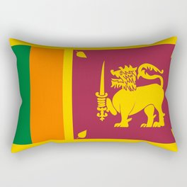 Flag of sri Lanka -ceylon,India, Asia,Sinhalese, Tamil,Pali,Buddhist,hindouist,Colombo,Moratuwa,tea Rectangular Pillow