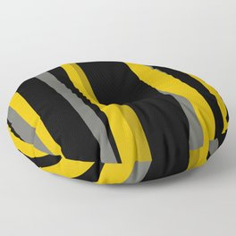 yellow gray and black Floor Pillow