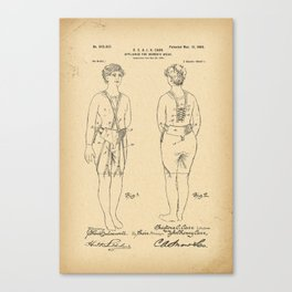 1900 Patent Appliance for women's wear Canvas Print