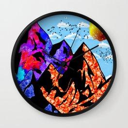 Colored Peaks Wall Clock