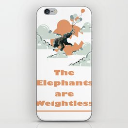 The Elephants Are Weightless iPhone Skin