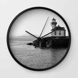 Lime Kiln Lighthouse Wall Clock