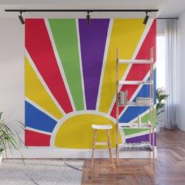 Colourful Sun Ray Burst Wall Mural
