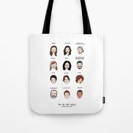 Gilmore Girls Mood Chart Tote Bag