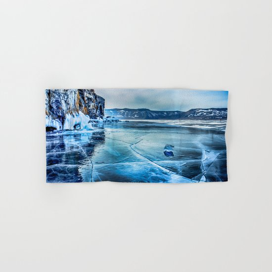 Lake Baikal. March Hand & Bath Towel