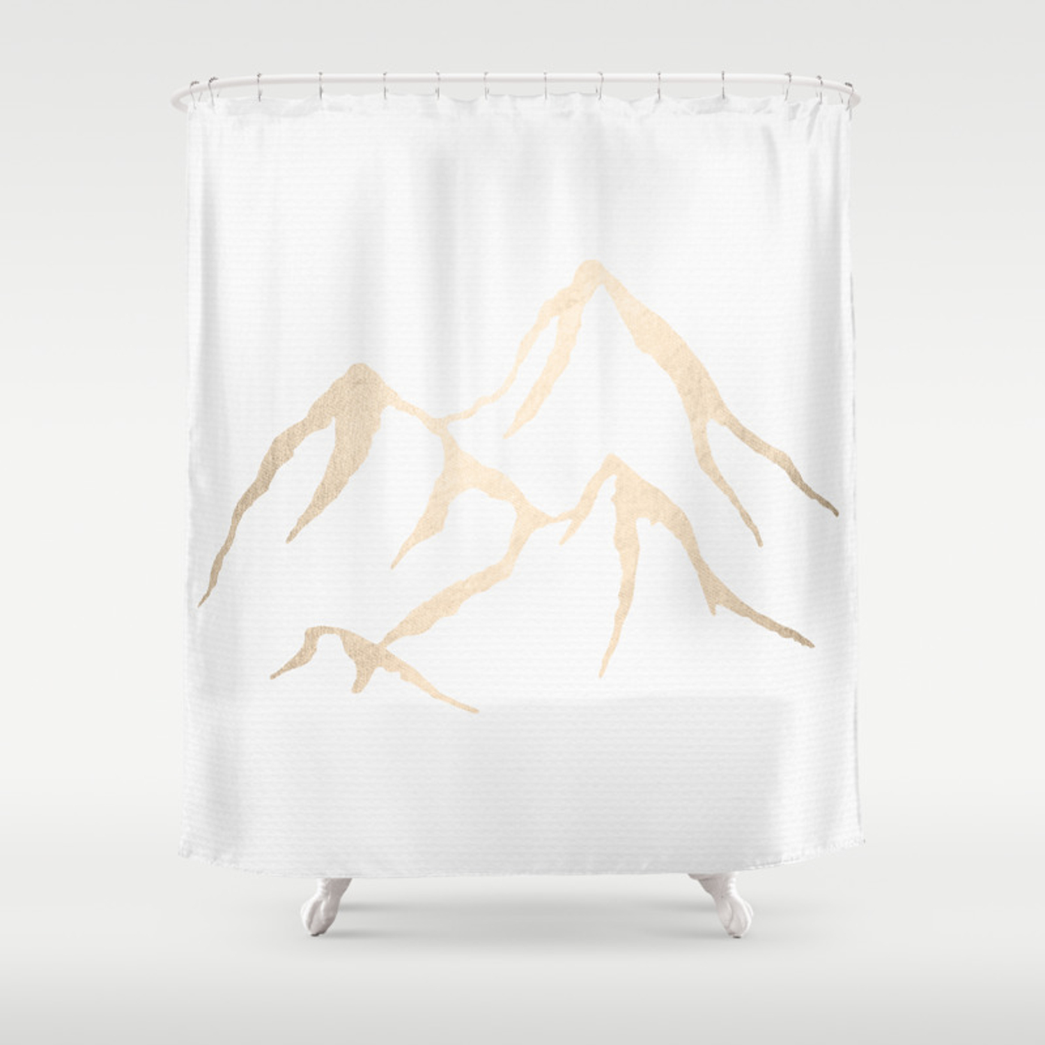 Adventure White Gold Mountains Shower Curtain By Naturemagick Society6
