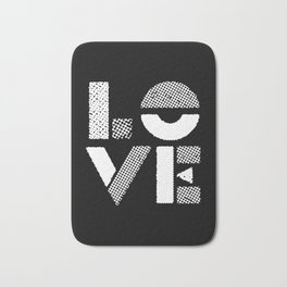 Love black and white contemporary minimalist typography design home wall decor bedroom Bath Mat