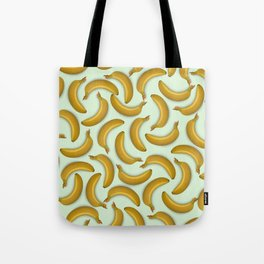 Fruit pattern. Background from bananas with realistic shadows Tote Bag