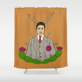 Frida Khalo Antlers and Arrows Shower Curtain