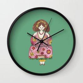 Marie-Fleur la Fleuriste Wall Clock