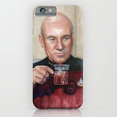 Tea. Earl Grey. Hot. Captain Picard Star Trek | Watercolor iPhone 6 Slim Case