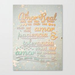 El amor real Canvas Print