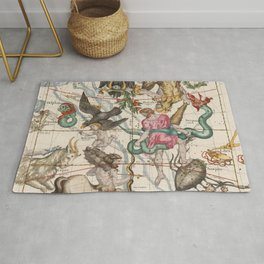 Vintage Constellation Map - Star Atlas - Sagittarious - Scorpio Rug