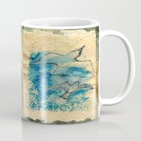 letter Mugs featuring Letter by Irmak Akcadogan