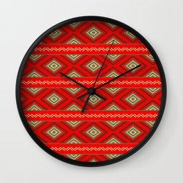 Tribal #6 * Ethno Ethnic Aztec Navajo Pattern Boho Chic Wall Clock