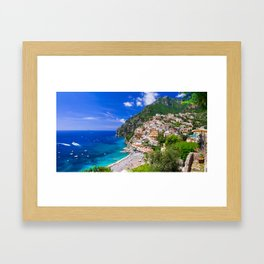 Amalfi Coast Italy Framed Art Print