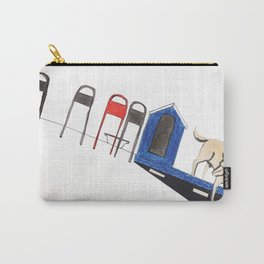 blue dog house Carry-All Pouch