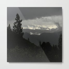 Another stormy day on the mountain... Metal Print