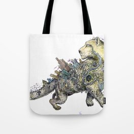 Independent leopard as a symbol of Kazakhstan Tote Bag