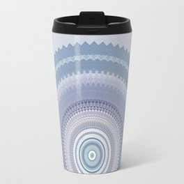 Inspirational Mandala in soft pastel colors of blue and lilac Travel Mug