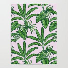 banana trees marker pattern Poster