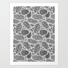 Nugs in Black and White Art Print