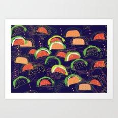 watermelons 2 Art Print