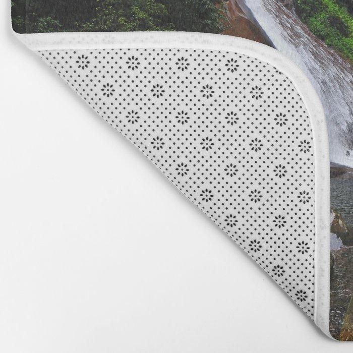 Peruvian Waterfall I Bath Mat