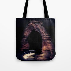 Blue Night Sky Stars - Delicate Arch Arches National Park Utah Tote Bag