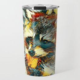 AnimalArt_Raccoon_20170601_by_JAMColorsSpecial Travel Mug