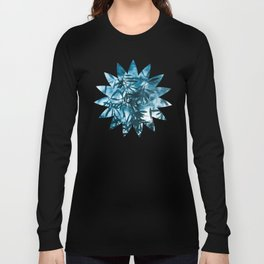 Olive tree leaves silhouette summer blue Long Sleeve T-shirt