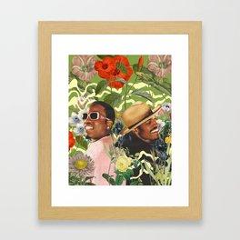 PLANT COLLAGE 1 Framed Art Print