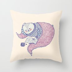 lazy saturdays Throw Pillow