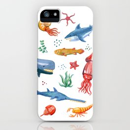 Prehistoric Ocean Critters iPhone Case