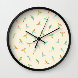Parrots ! Papagei ! Wall Clock