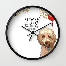 Year of the Dog - Labradoodle Wall Clock
