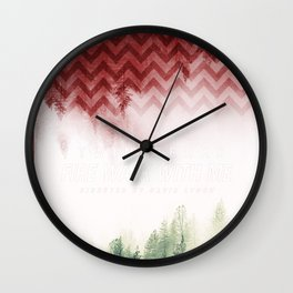 Twin Peaks: Fire Walk With Me Wall Clock