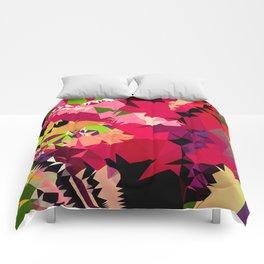 tropical fall colors geo Comforters