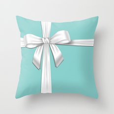 Blue Tiffany Box Throw Pillow