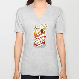 It is Japanese sushi night for the cute French Bulldog Unisex V-Neck