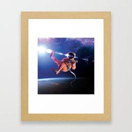 Space Uke  Framed Art Print