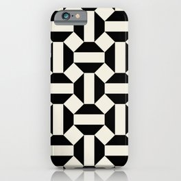 cross hexagons bw iPhone Case