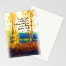 Faded Aspens DESIDERATA Stationery Cards